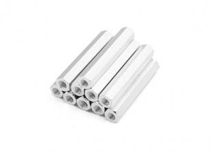 Alluminio leggero Hex Sezione Spacer M3 x 30mm (10pcs / set)