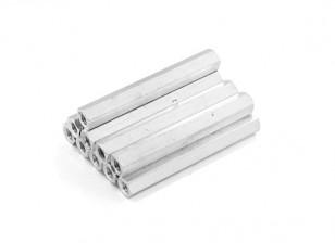 Alluminio leggero Hex Sezione Spacer M3 x 37 millimetri (10pcs / set)