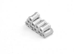 Alluminio leggero rotonda Sezione Spacer M3 x 10mm (10pcs / set)