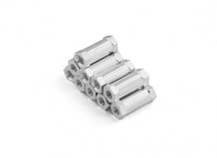 Alluminio leggero rotonda Sezione Spacer M3 x 13mm (10pcs / set)