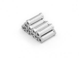 Alluminio leggero rotonda Sezione Spacer M3 x 17mm (10pcs / set)