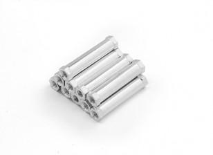 Alluminio leggero rotonda Sezione Spacer M3 x 25mm (10pcs / set)