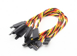 Ritorto 15 centimetri Servo Extention piombo (JR) con gancio 22 AWG (5pcs / bag)