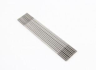 M2x90mm acciaio inossidabile aste di spinta (LH & RH filettato) (10pcs)