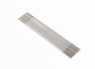 M2x100mm acciaio inossidabile aste di spinta (LH & RH filettato) (10pcs)