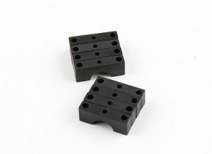 Anodizzato nero Double Sided di alluminio di CNC del tubo morsetto diametro 8mm