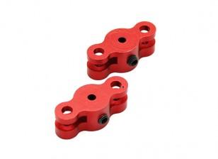 21 millimetri pieghevole Adattatore elica per due millimetri albero (Red) 1 coppia