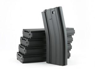 King Arms 300 arrotonda riviste metal wind-up per M4 / M16 AEG (il nero, 5pcs / box)