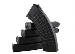 King Arms 600rounds Waffle riviste modello per Marui AK AEG (nero, 5pcs / box)