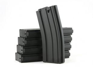 King Arms 120rounds riviste per la serie Marui M4 / M16 AEG (nero, 5pcs / box)