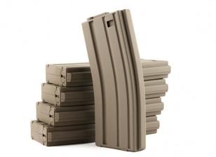 King Arms 120rounds riviste per la serie Marui M4 / M16 AEG (terra scura, 5pcs / box)