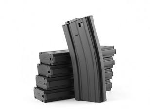 King Arms 120rounds riviste in metallo per serie Marui M4 / M16 AEG (nero, 5pcs / box)
