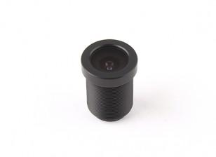 """2,5 millimetri consiglio Lens, F2.0, il Monte 12x0.5, CCD formato 1/3 """", angolo di 130 °"""
