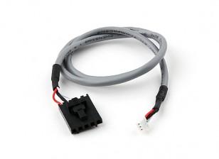 400 millimetri di 5 Pin Molex / JR a 3 pin bianco schermato Il connettore del cavo