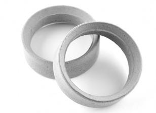 Squadra Sorex 24 millimetri modellati pneumatici inserti tipo un mezzo (2 pezzi)