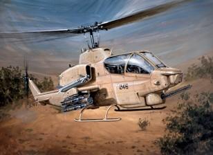 Italeri 1/48 Kit Scala di Bell AH-1W Super Cobra Plastic Modello