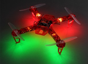 Dipartimento Funzione Pubblica FPV250 V4 Red Fantasma Edizione LED Night Flyer FPV Quadrirotore (Red) (Kit)