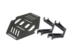 Carbon multi-rotore doppio Monte Batteria Suits 10mm Bracci