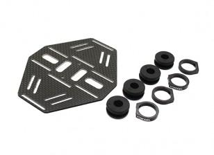 Carbon multi-rotore doppio supporto della batteria con gomma Damping Suits Bracci 8mm