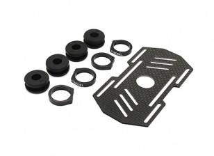 Carbon multi-rotore Monte batteria con gomma Damping Suits Bracci 8mm