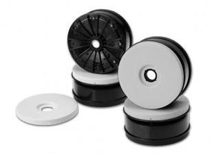 JCONCEPTS inverso 1/8 Buggy Wheel - Bianco