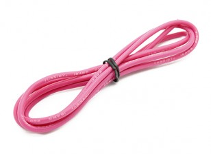 Turnigy alta qualità 16AWG silicone Filo 1m (Rosa)