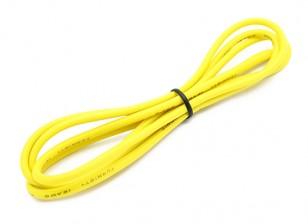Turnigy alta qualità 16AWG silicone Filo 1m (Giallo)