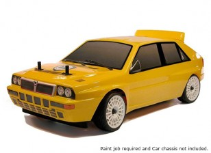 Rally Legends 1/10 Lancia Delta Integrale Evo2 Unpainted auto Shell Corpo w / decalcomanie