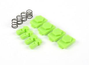 Hexmag Airsoft hexid Latchplates / Follower 4pcs Set (Zombie verde)
