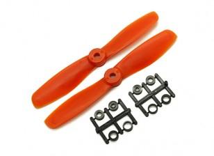 Gemfan Bull Nose BN5045 Eliche CW / CCW Set (arancione) 5 x 4.5