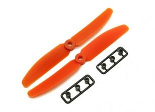 Gemfan 5040 GRP / nylon Eliche CW / CCW Set (arancione) 5 x 4