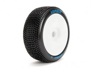 LOUISE B-VIPER scala 1/8 Buggy pneumatici di mescola morbida / White Rim / Montato