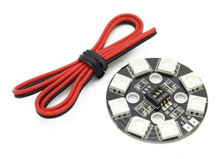 RGB LED Circle X8 / Sistema di illuminazione 16V