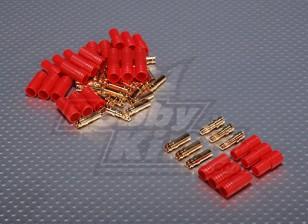 3,5 millimetri 3 fili Pallottola-connettore per il motore (5pairs / bag)