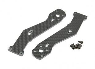 Tarocchi 3 mm di spessore frontale Arms per fibra TL280H mezza carbonio