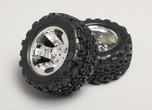 1/8 Monster Truck per ruote e pneumatici 12 millimetri Hex (2pc)