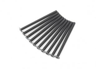 Metallo a testa piatta macchina Vite Esagonale M3x45-10pcs / set