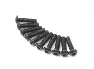 Metallo rotonda Machine Head Vite Esagonale M3x12-10pcs / set