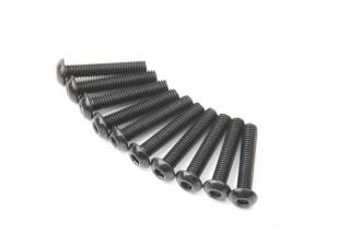 Metallo rotonda Machine Head Vite Esagonale M3x16-10pcs / set