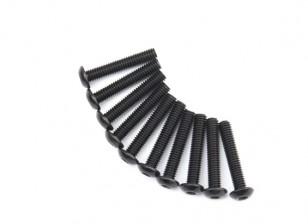 Metallo rotonda Machine Head Vite Esagonale M4x22-10pcs / set