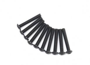 Metallo rotonda Machine Head Vite Esagonale M4x26-10pcs / set