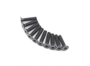 Metallo a testa piatta macchina Vite Esagonale M5x22-10pcs / set