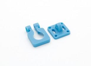 Obiettivo Diatone Montaggio telecamera orientabile per Miniature telecamere (Blu)