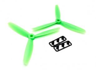 GemFan 5045 ABS 3-Blade Eliche CW / CCW Set Verde (1 coppia)