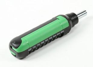 Dipartimento Funzione Pubblica ™ 15pc Rachet Set di cacciaviti (verde)