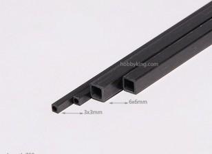 Piazza in fibra di carbonio tubo 750x6mm
