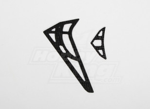 GT450PRO CF orizzontale / verticale pinna caudale