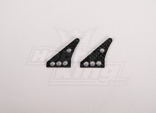 In fibra di carbonio di controllo Horn 32x24mm (2pcs / bag)