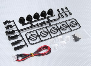 1/10 LED Crawler Bar Set (nero)