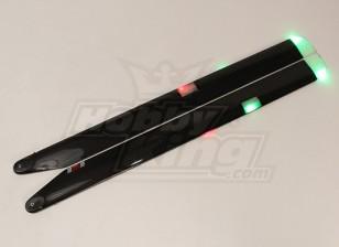 710 millimetri MS Composit 3D Night Main Blades